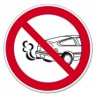 Prohibition signs BGV icon pictogram Stop the engine poisoning hazard — Stock Vector
