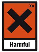 Safety sign danger sign hazardous chemical chemistry harmful — Stock Vector