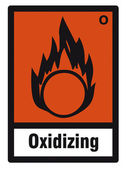 Safety sign danger sign hazardous chemical chemistry Oxidizing — Stock Vector