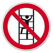 Prohibition signs BGV icon pictogram Climb for unauthorized — Stock Vector