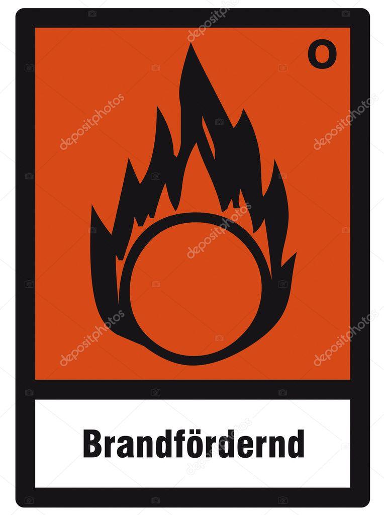Safety sign danger sign hazardous chemical chemistry oxidizing stock