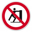 Prohibition signs BGV icon pictogram Slide prohibited — Stock Vector