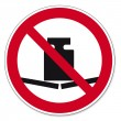 Постер, плакат: Prohibition signs BGV icon pictogram weight no charge