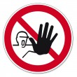 Prohibition signs BGV icon pictogram Access for unauthorized persons - Vettoriali Stock
