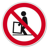 Prohibition signs BGV icon pictogram difficult to raise — Stock Vector