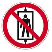 Prohibition signs BGV icon pictogram Passenger-riding — Stock Vector