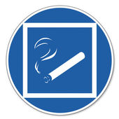 Commanded sign safety sign pictogram occupational safety sign Smoking allowed in limited areas — Stock Vector