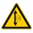Safety signs warning triangle sign vector pictogram icon BGV A8 height adjustment — Stock Vector #11976787