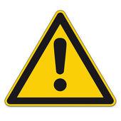 Sinais de segurança aviso warndreieck sinal do bgv a8 triângulo vector pictograma ícone perigoso ponto de exclamação — Vetorial Stock