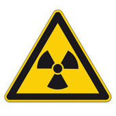 Safety signs warning triangle sign BGV vector pictogram icon radioactive nuclear radiation — Stock Vector
