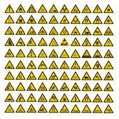 Safety signs warning set warndreieck BGV A8 triangle sign vector pictogram icon — Stock Vector