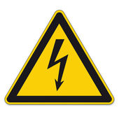 Safety signs warning sign BGV vector pictogram icon lightning lightning symbol current electricity — Stock Vector