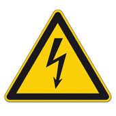 Safety signs warning sign BGV vector pictogram icon lightning lightning symbol current electricity — Stock Vector