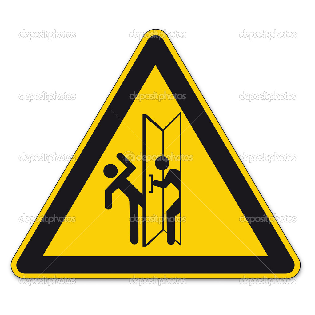 Door Clip Art Safety : Safety signs warning triangle sign vector pictogram icon