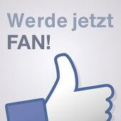 Face symbol hand i like fan fanpage social voting dislike network book werde jetzt fan — Stock Vector