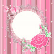 Royalty-Free Stock Photo: Vintage background with flowers and lace frame