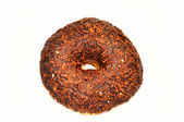 Chocolate donut with candy — Foto de Stock