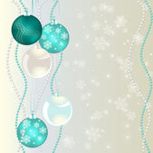 Christmas bubbles on abstract background — Stock Photo