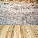 Stare cegły ściany pokoju — Zdjęcie stockowe