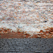 Foto Stock: Old brick wall