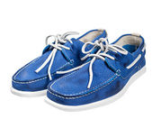 Pair of blue male shoes — Stock Photo