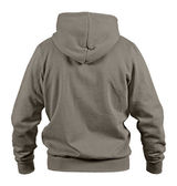 Back side of brown smock with hood isolated on white background — Stock Photo