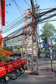Power lines in Saigon — Stock Photo