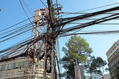 Power lines in Saigon — Stock Photo