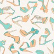 High heels seamless pattern — Stock Vector
