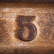 Number five background — Stock Photo
