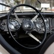 Retro styled classic car dashboard — Stock Photo