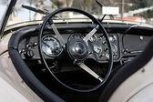Retro styled classic car dashboard — Stock Photo