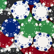 Background of poker tokens — Stock Photo