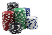 Isolated poker tokens — Stock Photo