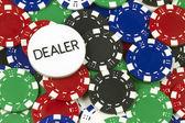 Poker-token — Stockfoto