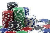 Algumas fichas de poker — Foto Stock