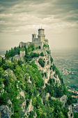 Fortress at mountain top — Stock Photo