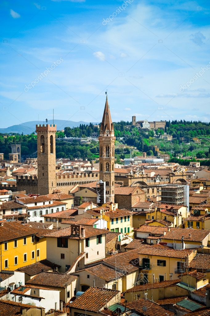 Hour tower in Florence  Stock Photo #10956494