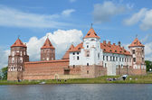 Mirsky castle in Belarus. — Stock Photo