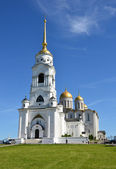Uspenský chrám v vladinir. zlatý prsten z ruska. — Stock fotografie