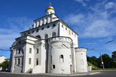 Golden gate no centure vladimir.12. anel de ouro da Rússia. — Fotografia Stock