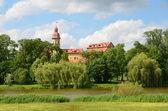 Radzevil's palace in Nesvij in Belarus. — Stock Photo