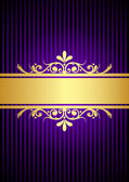 Silver vintage gold and purple background — Stock Vector