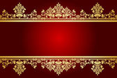 Vector red and gold frame — Stock Vector