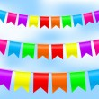 Vector - illustration of colorful bunting — Stock Vector