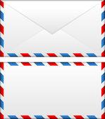Vector illustration of airmail envelope — Stock Vector