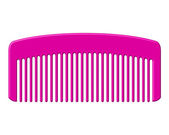 Vector illustration of pink comb — Stock Vector