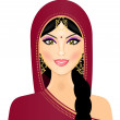 Vector illustration of Indian woman smiling — Stock Vector #11923636