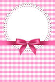 Vector baby pink background with napkin and ribbon — Stock Vector