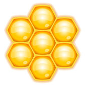 Vector illustration of honeycomb — Vector de stock